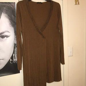 Zara gold/brown Top. Size Large. Worn 1x.